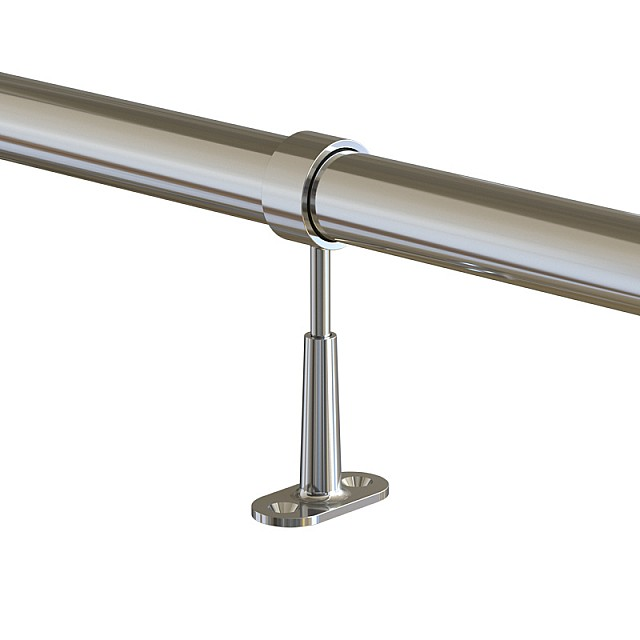 ADJUSTABLE TUBE SUPPORT D.25 - CHROME